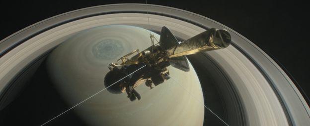 Зонд «Кассини» вышел на связь и прислал фотографии Сатурна
