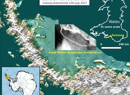 От Антарктиды откололся айсберг размером с 17 Минсков