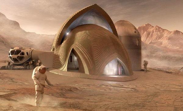 НАСА показало, как будут выглядеть дома на Марсе (Видео)