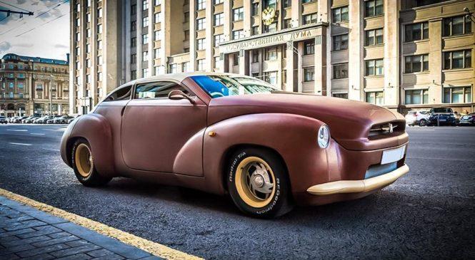 В России продают самый кожаный в мире автомобиль за 25 миллионов рублей