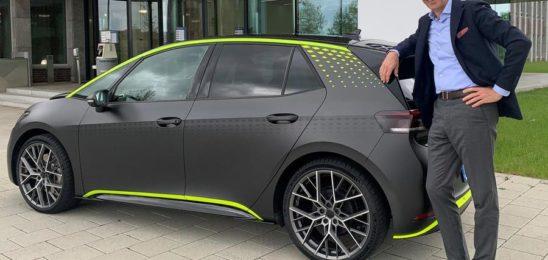 Volkswagen показал мощнейший электрический хэтчбек ID.X